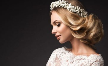 تسريحة شعر طويل للعروس
