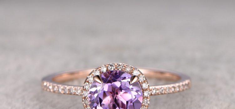 خاتم خطوبة أرجواني لعروس أكثر فخامة