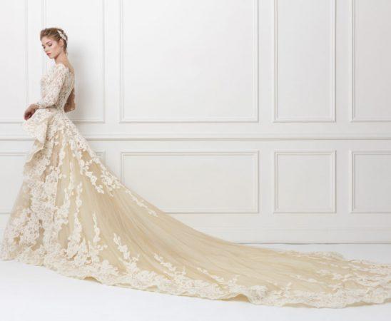 شاهدي آخر فساتين زفاف من تصميم ياسمين يحيى