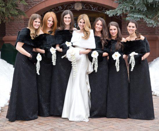 فساتين زفاف شتوية