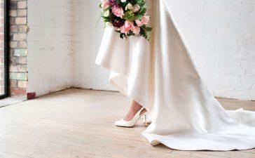 حذاء عروس مناسب لإطلالة ساحرة يوم الزفاف