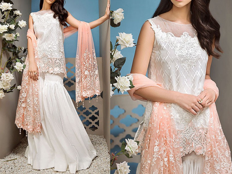 فستان زفاف بقطعتين