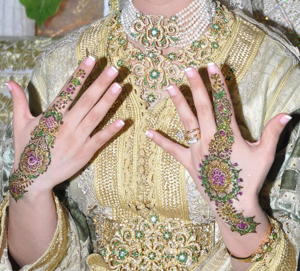 حناء تناسب فستان الزفاف