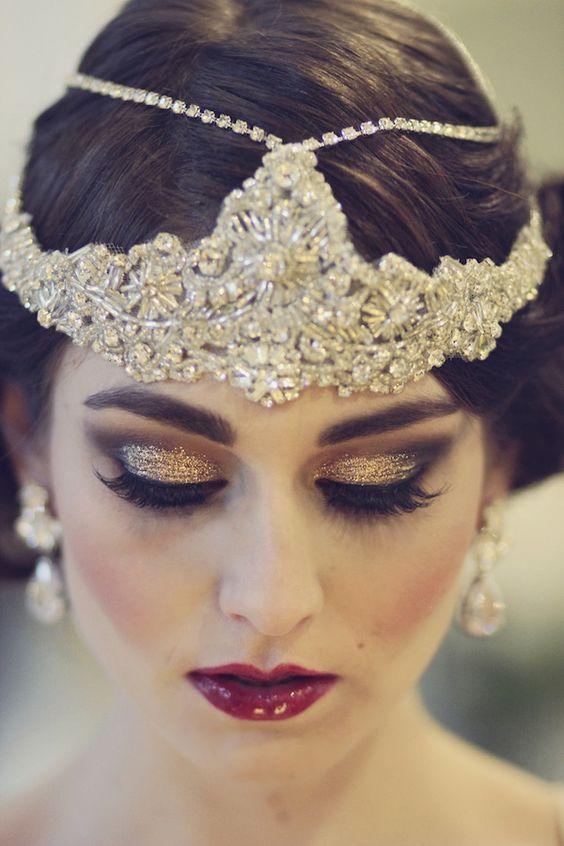 ماكياج زفاف براق