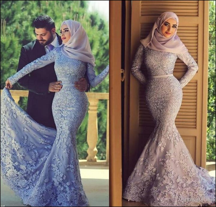 فستان زفاف على شكل السمكة