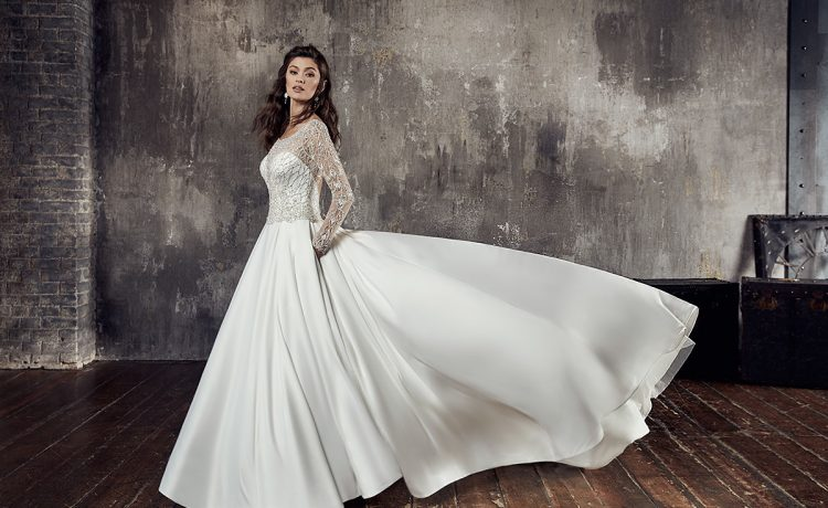 fc09104e5 فستان زفاف طويل لإطلالة أكثر أناقة وترفا في حفلات الزفاف وليلة العمر ...