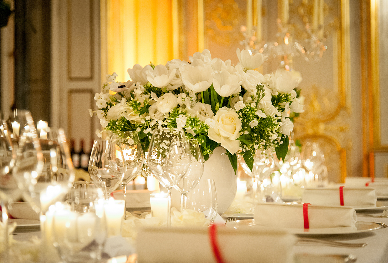 طاولة حفل زفاف