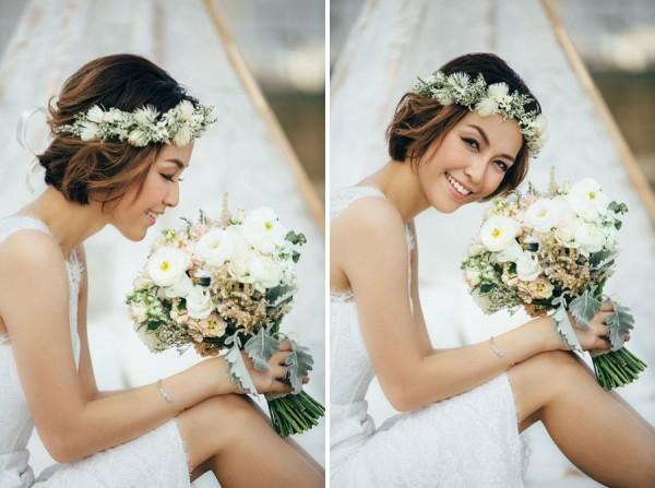 الشعر القصير للعروس