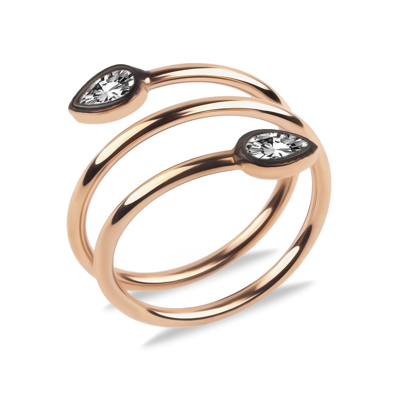 خاتم فضة مطلي بالذهب
