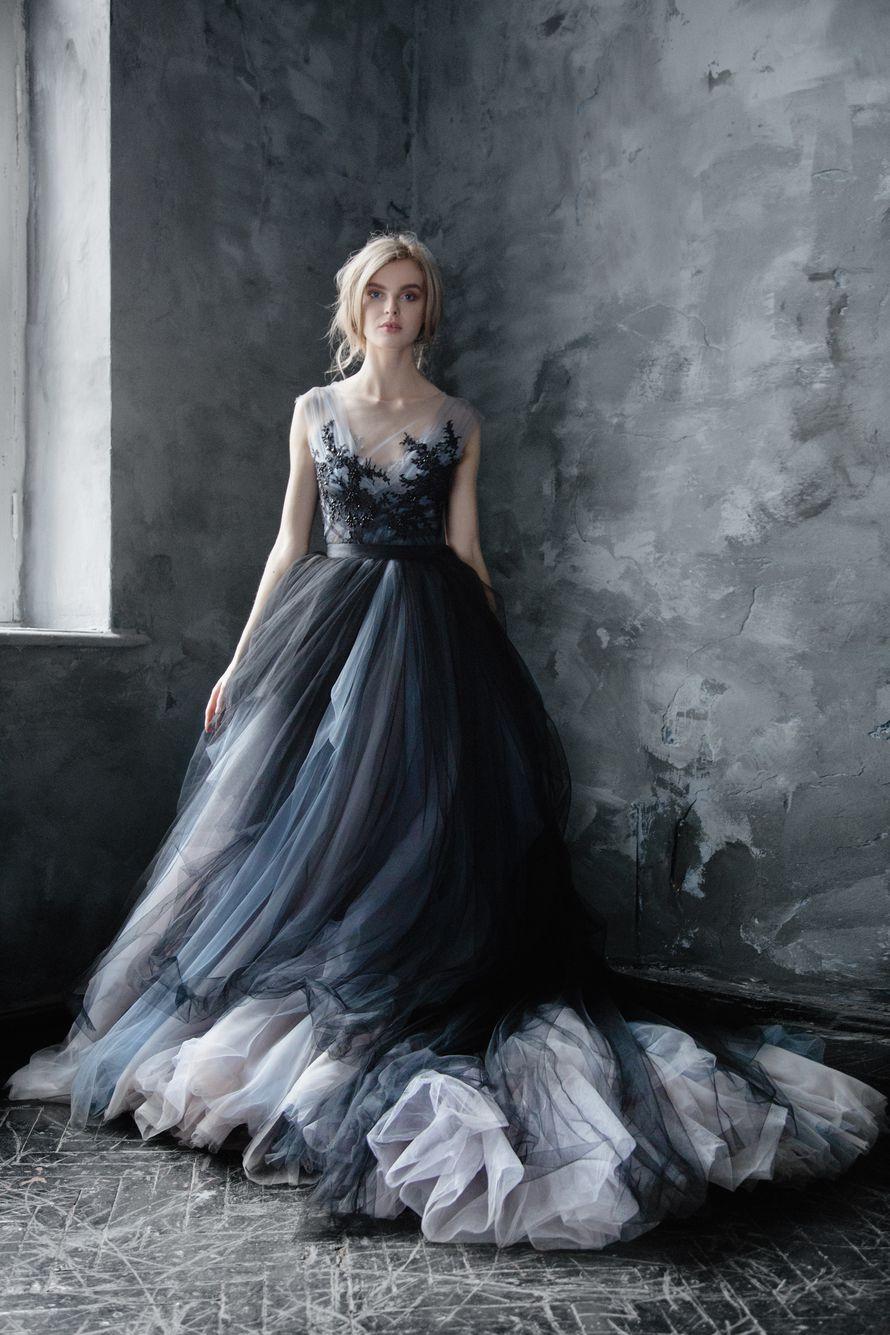 فستان زفاف بدرجات الأسود