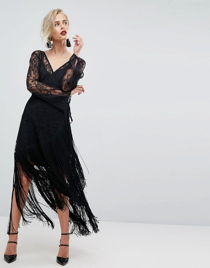 فستان زفاف أسود قصير