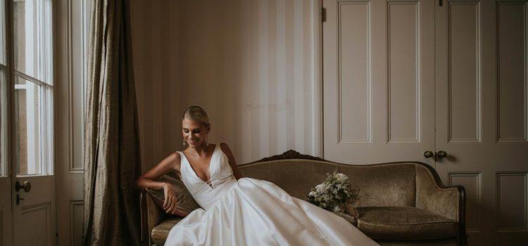 فستان زفاف حرير