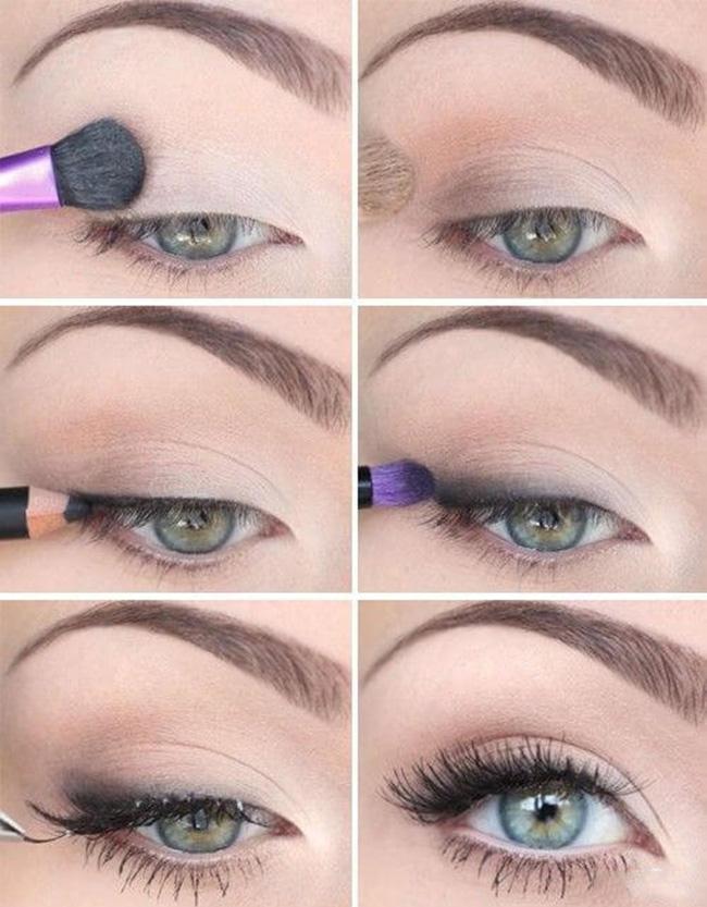 مكياج عيون بسيط