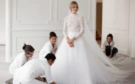 فستان عروس ابيض