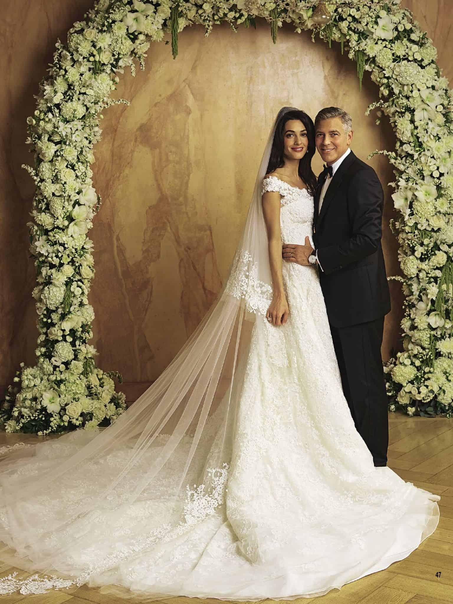 أغلى فساتين زفاف : فستان زفاف أمل كلوني