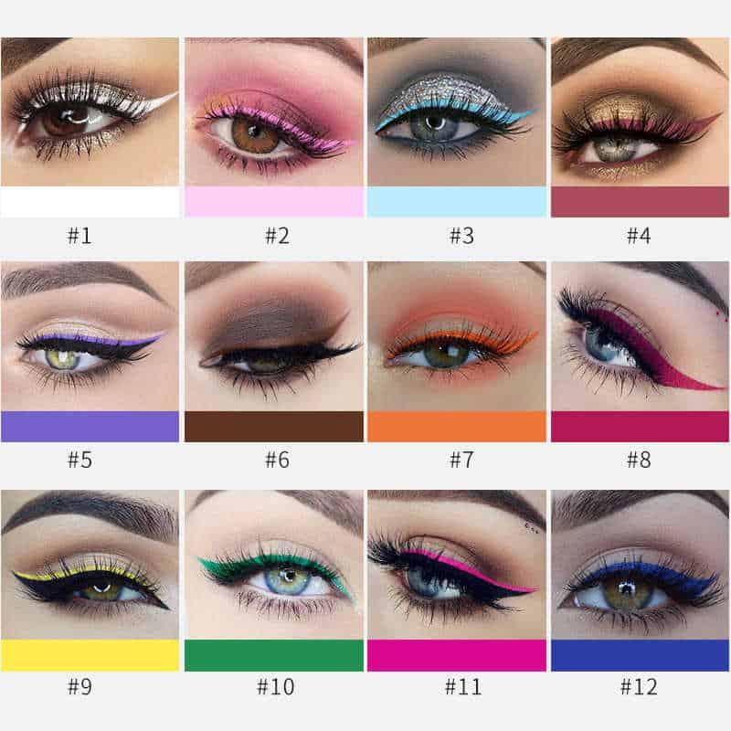 مكياج عيون بألوان الربيع