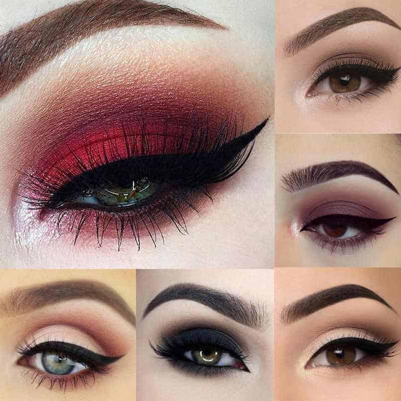 مكياج عيون ناعم بألوان جريئة