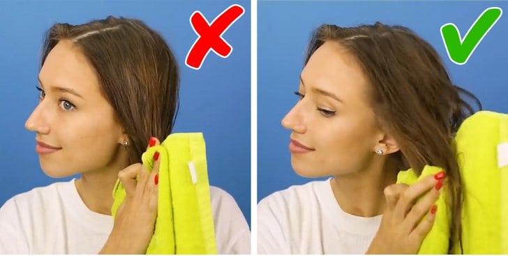تجفيف الشعر بالطريقة الصحيحة
