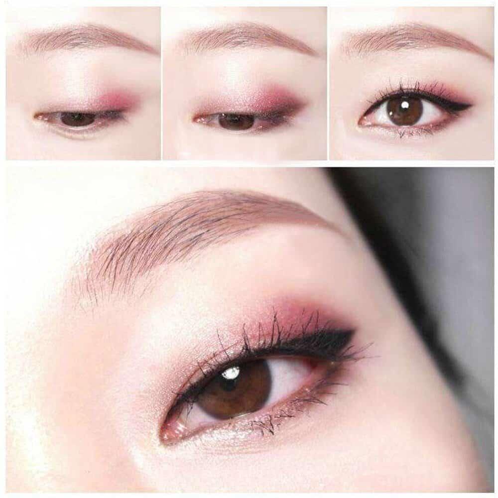 مكياج عيون ناعم على الطريقة الآسيوية