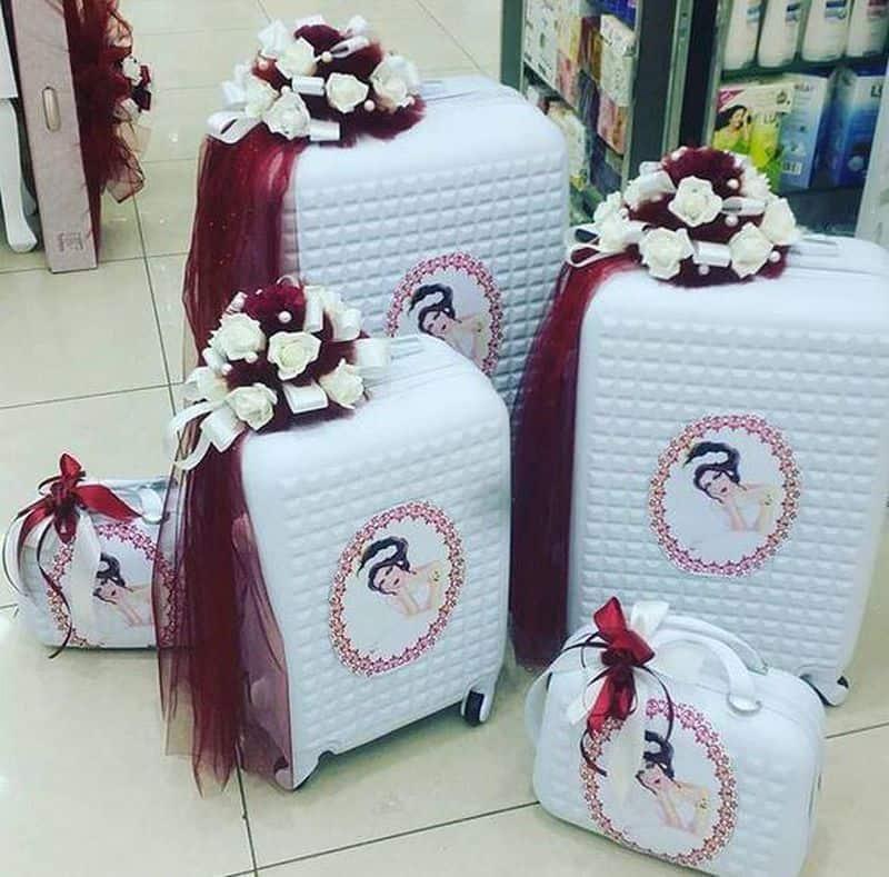 دبش العروس في حقائب تحمل ثيمات رائعة