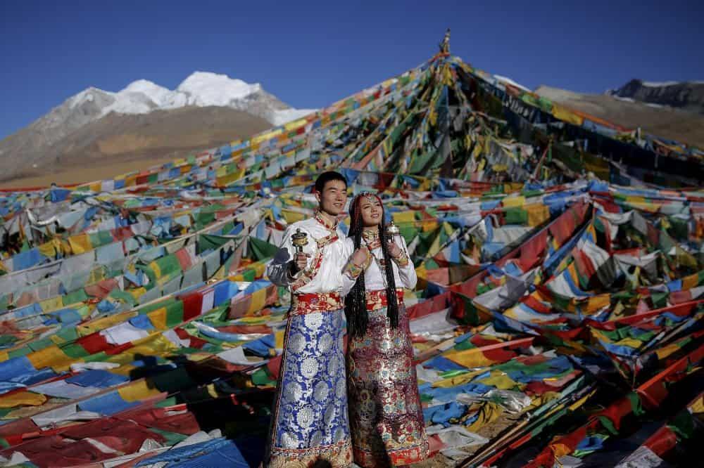 فستان زفاف عروس التيبت