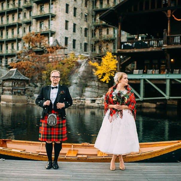 فستان زفاف عروس سكتلاندا