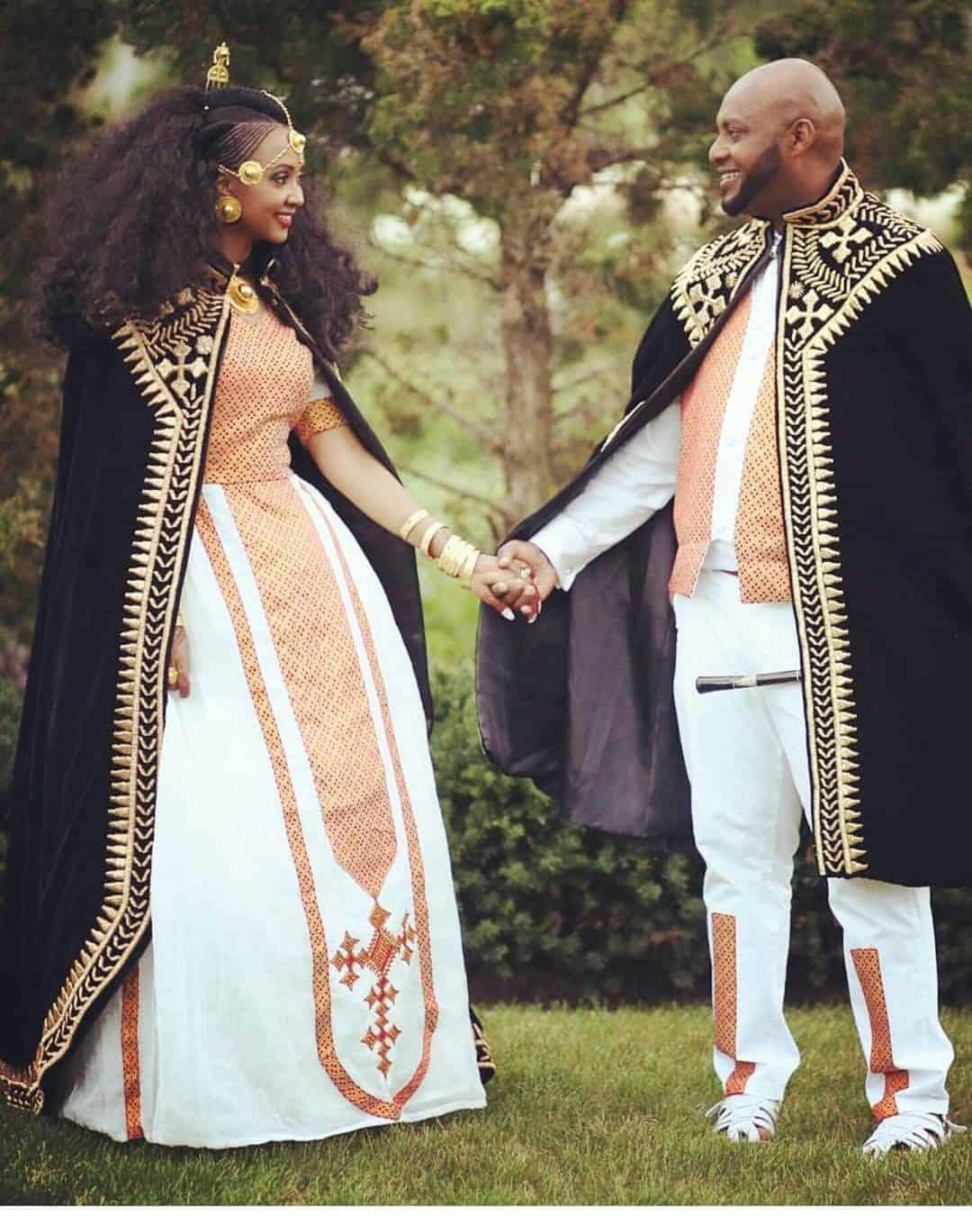 فستان زفاف عروس أثيوبيا