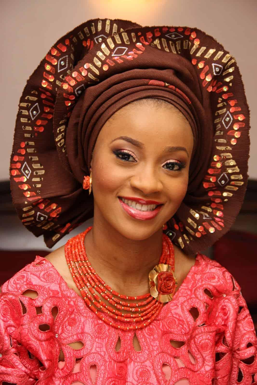 فستان زفاف عروس نيجيريا
