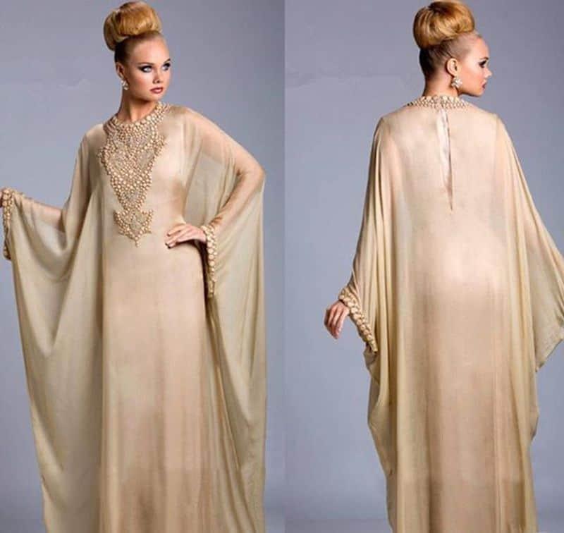 فستان طويل مزدوج