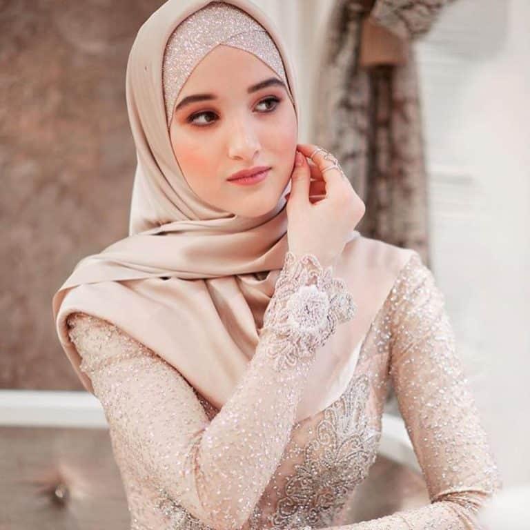 لفات طرحة للعرائس على الطريقة التركية