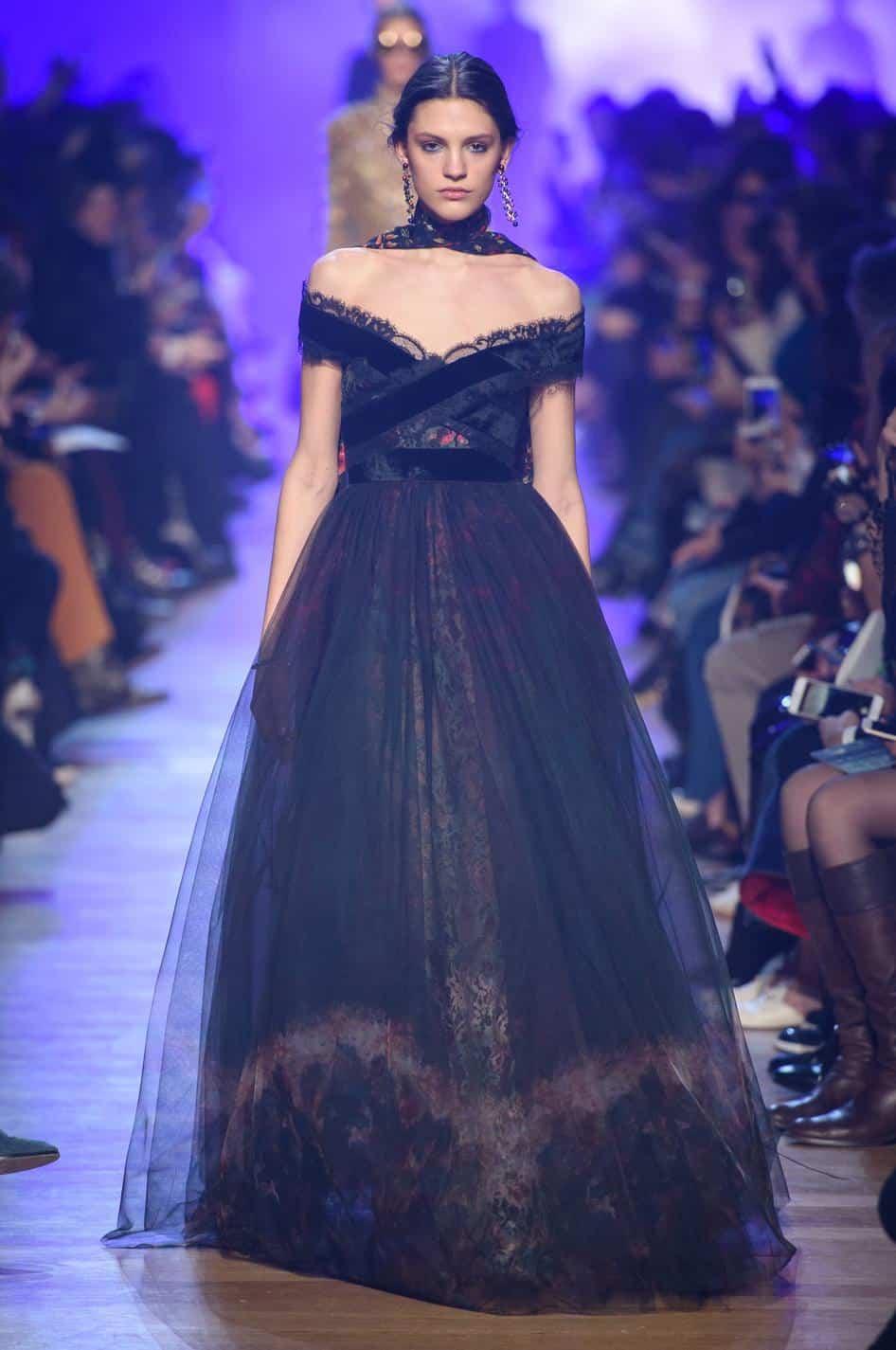 أجمل فساتين ملكة : فستان أسود للسهرات