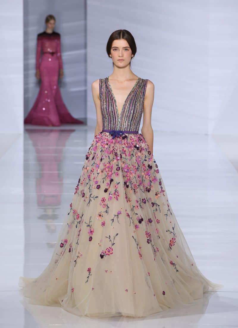 فستان سهرة ملون
