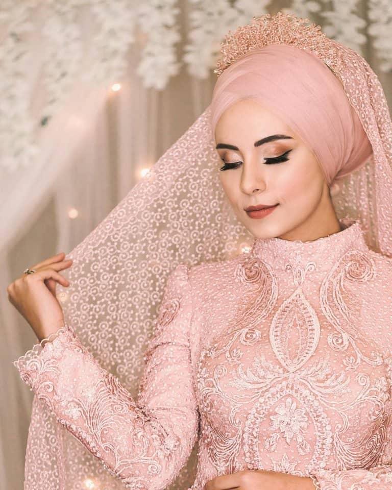 لفات طرحة للعرائس مع التاج