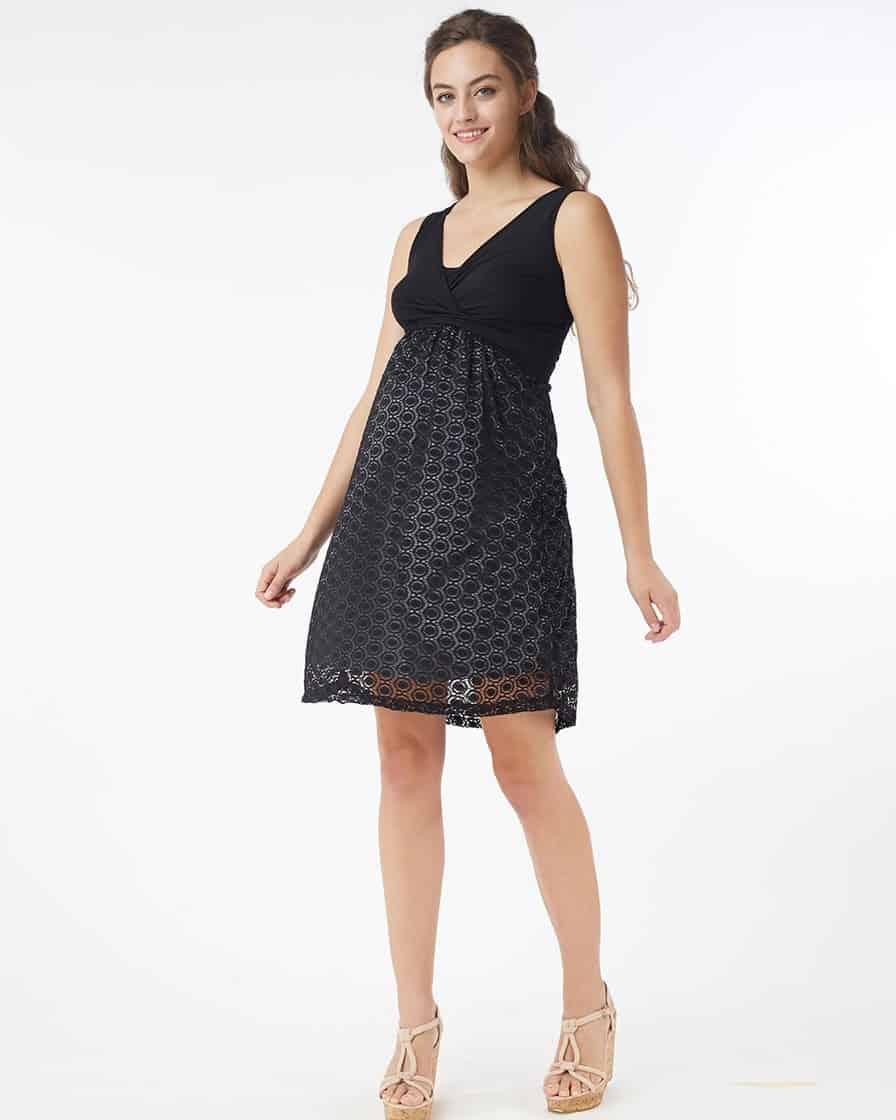 فستان حامل أسود وقصير
