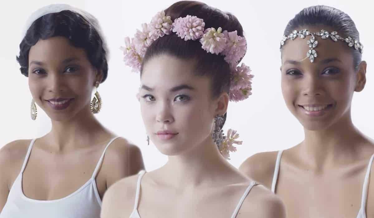 أكسسوارات الزهور مع تسريحة العروس
