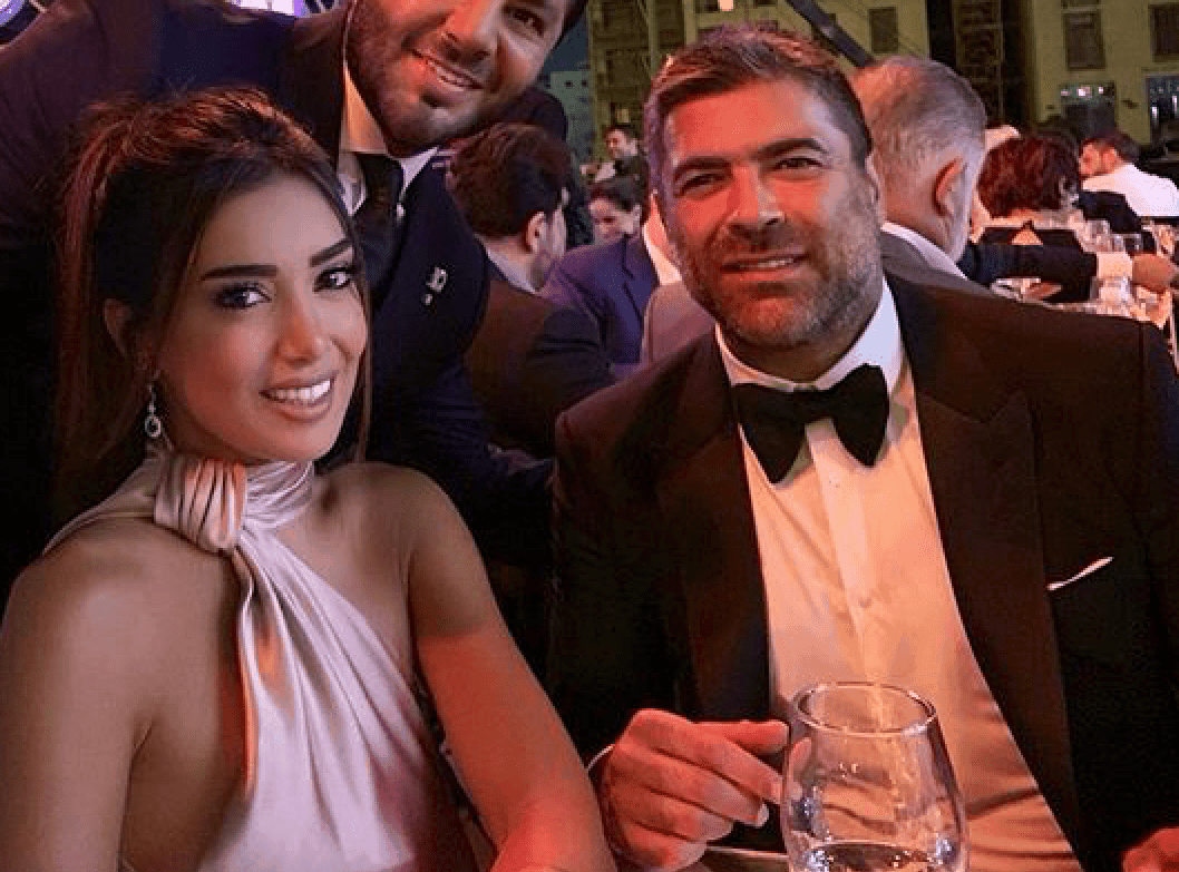 وائل كفوري وجيسيكا عازار في مطعم