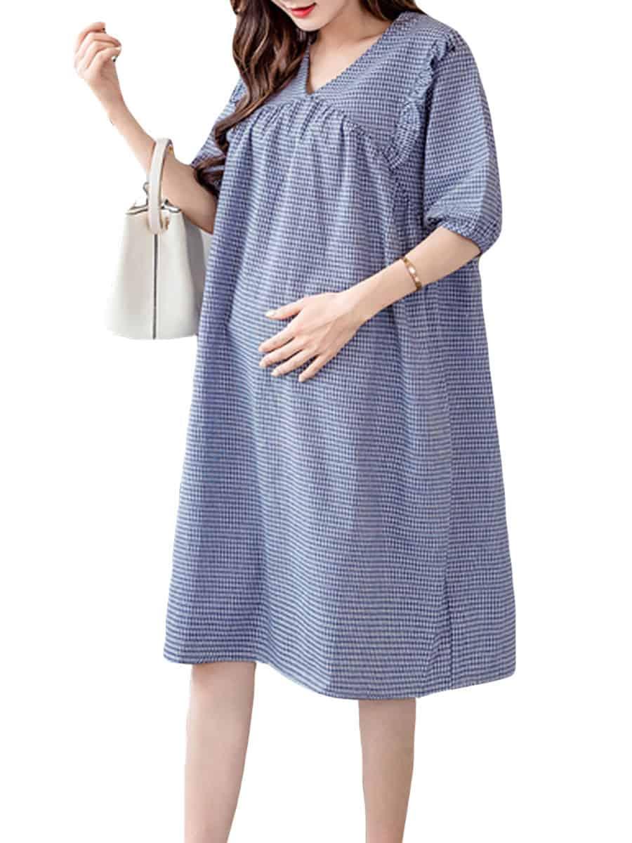 فستان فضفاض للحوامل