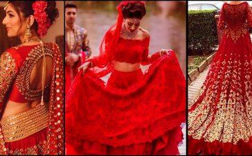 فساتين زفاف حمراء