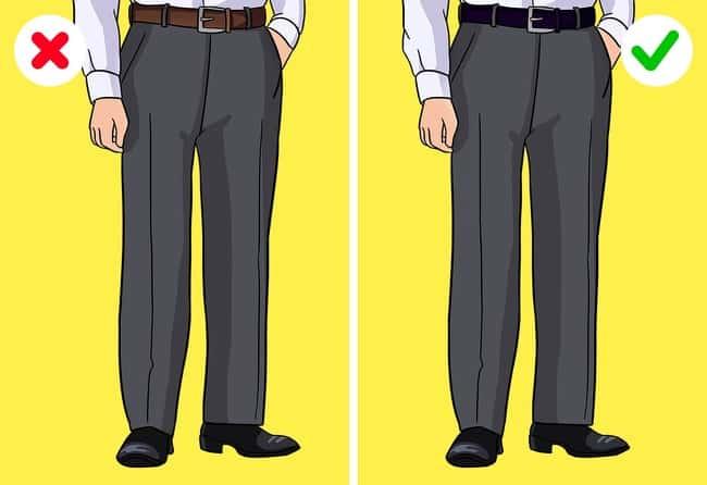 لون الحزام مناسب للون الحذاء