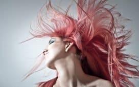 صبغة شعر وردي
