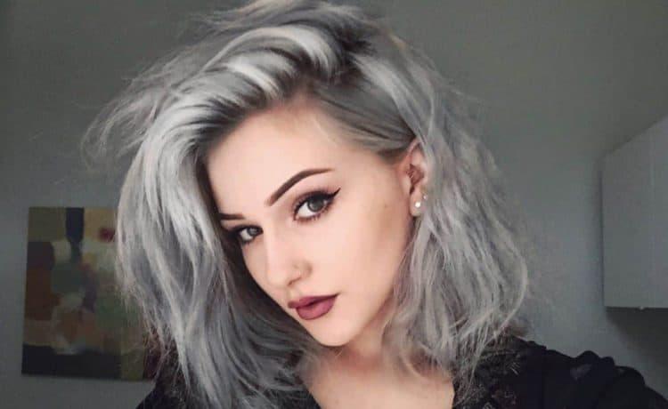 صبغات شعر رمادي غامق