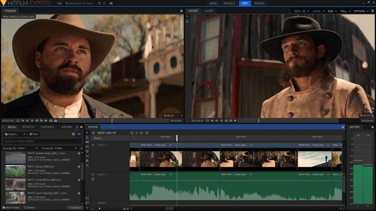 النسخة المجانية منHitfilm