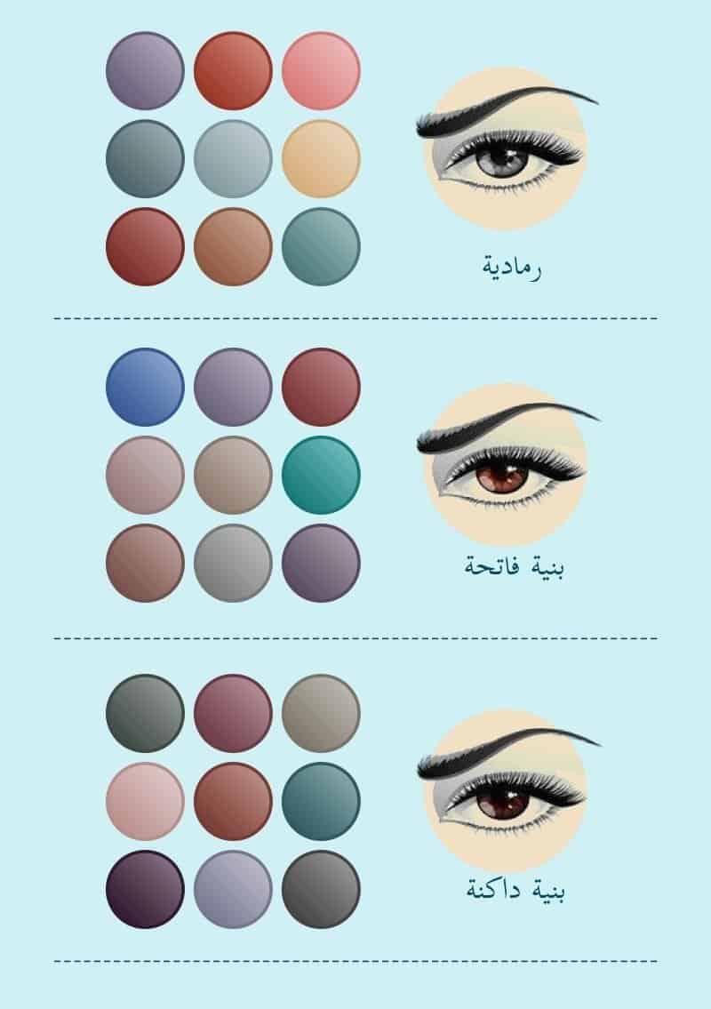 اللون المناسب لعينيك