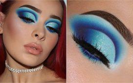 مكياج عيون أزرق