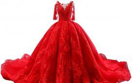 فستان زفاف أحمر