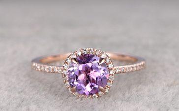 أجمل مجوهرات الجمشت للعروس