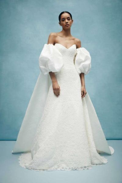 فساتين زفاف ذات أكمام منفوخة