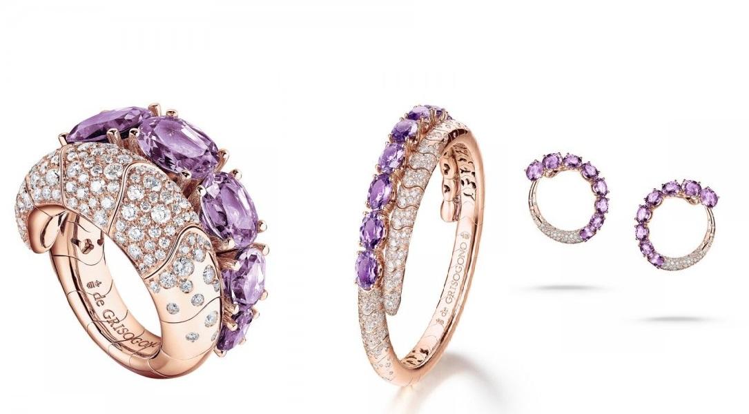 مجوهرات العروس بالجمشت من دار دي غريسوغونو De Grosogono