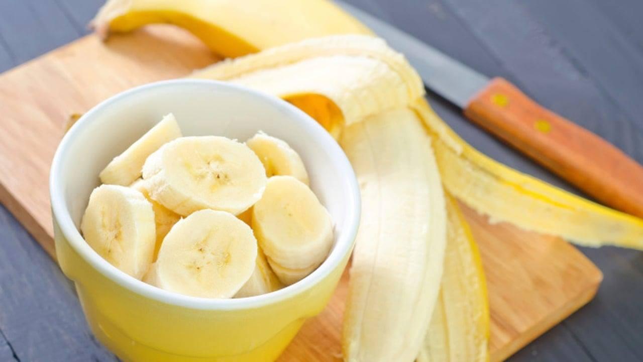 قناع الموز مع الزبادي
