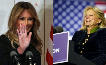 مجوهرات جيل بايدن وميلانيا ترامب تسرق الأضواء خلال الانتخابات الأمريكية
